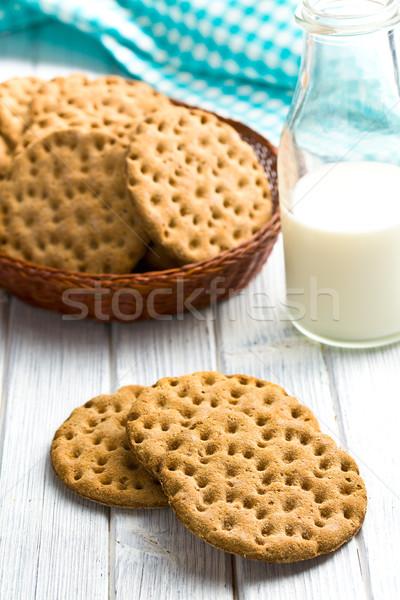 Crispbread on kitchen table Stock photo © jirkaejc