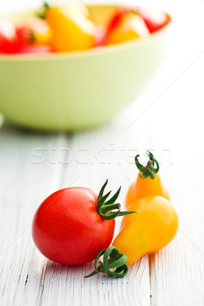 Stock photo: cherry tomatoes on table