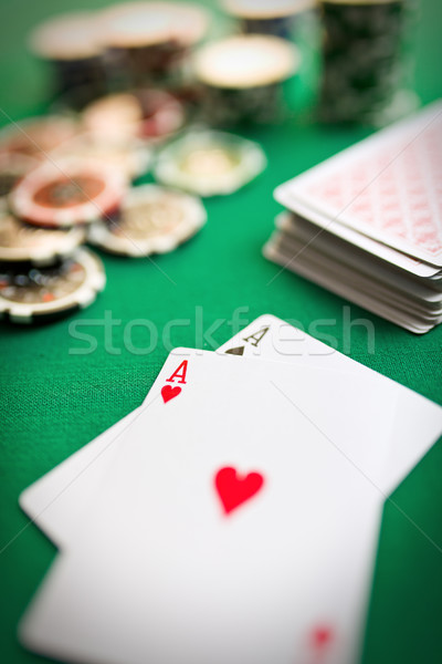 two aces on casino table Stock photo © jirkaejc