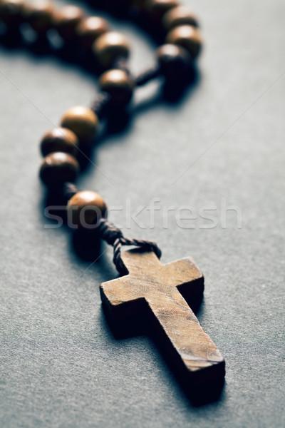 wooden rosary beads Stock photo © jirkaejc