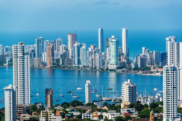 Cartagena Skyscapers Stock photo © jkraft5
