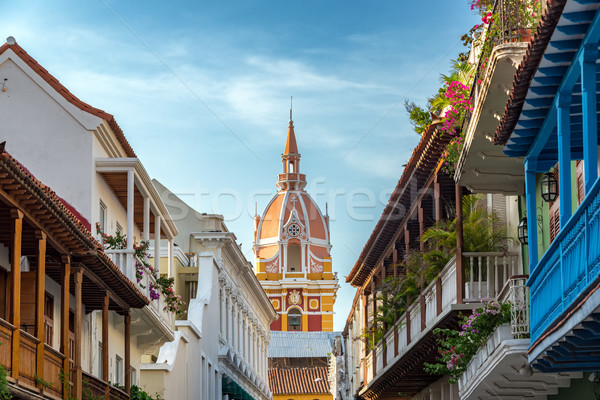 Colorful Historic Cartagena Stock photo © jkraft5
