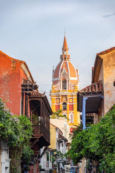 Güzel katedral görmek renkli sömürge şehir Stok fotoğraf © jkraft5