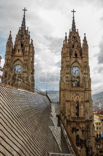 Bazilika tornyok tető kilátás épület templom Stock fotó © jkraft5