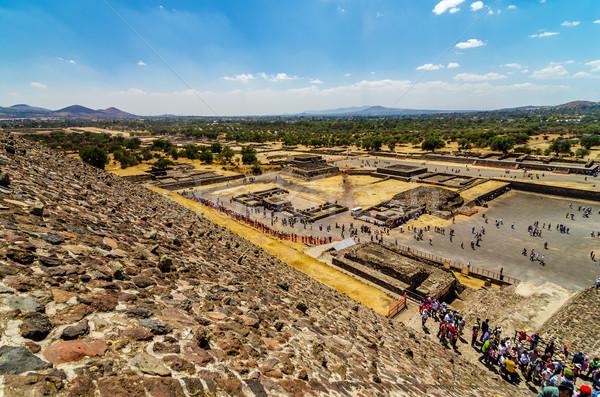 Romok kilátás Mexikóváros templom nap épület Stock fotó © jkraft5
