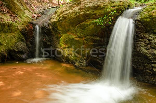 Iki küçük şelaleler doğa yeşil Stok fotoğraf © jkraft5