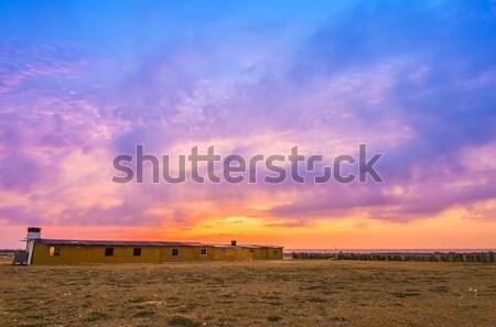 Vibrante puesta de sol colorido cielo sol Foto stock © jkraft5