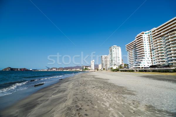 Stok fotoğraf: Görmek · plajlar · gökyüzü · şehir