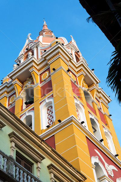 Colorful Cathedral in Cartagena Stock photo © jkraft5