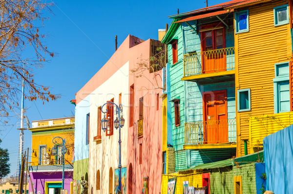 Sokak Buenos Aires parlak renkler Stok fotoğraf © jkraft5