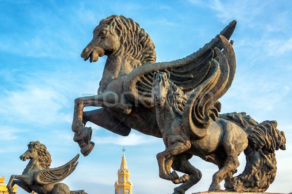 Pegasus Statues Closeup Stock photo © jkraft5