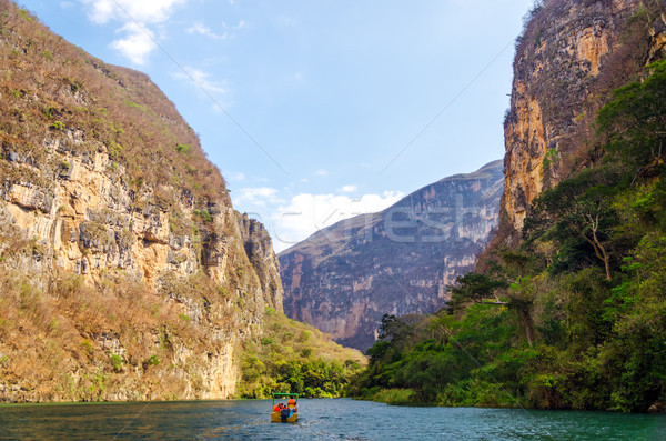 Boat in a Canyon Stock photo © jkraft5