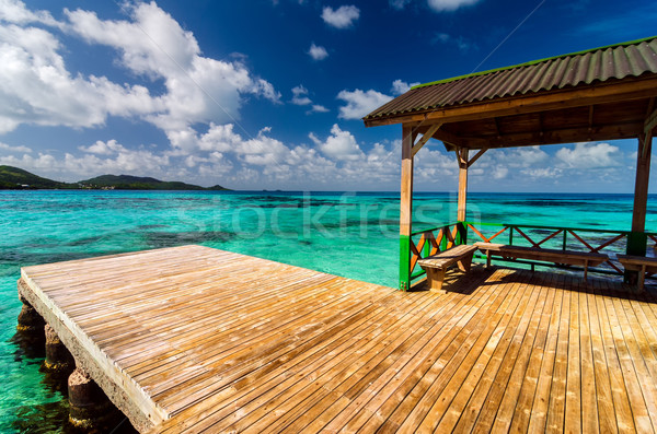 Stock photo: Dock in Turquoise Water