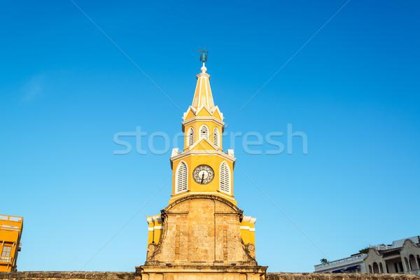 Clock Tower of Cartagena Stock photo © jkraft5
