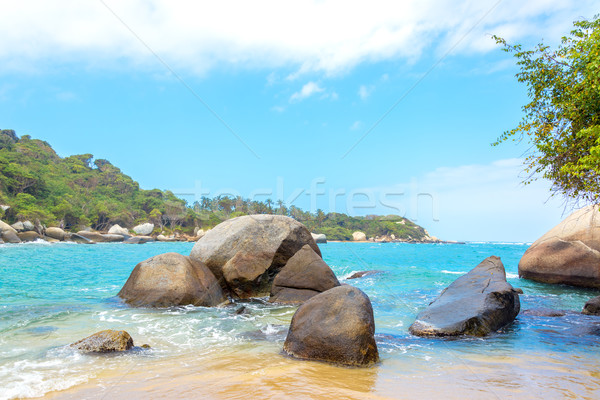 Caribbean Sea and Rocks Stock photo © jkraft5