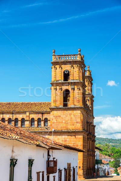 大聖堂 青空 コロニアル 町 コロンビア ストックフォト © jkraft5