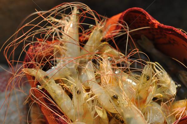 Widoku krewetki gotowania obiad Zdjęcia stock © jkraft5