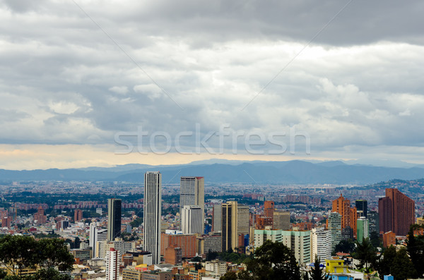 Innenstadt Bogota Wolkenkratzer Kolumbien Gebäude Stadt Stock foto © jkraft5