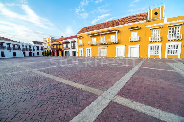 Stock photo: Historic Plaza in Cartagena