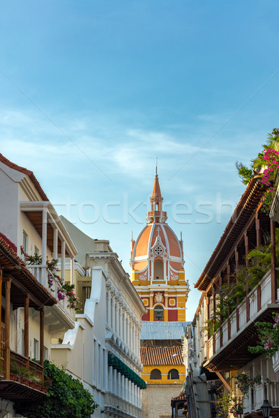 Vertical Cartagena Cathedral Stock photo © jkraft5
