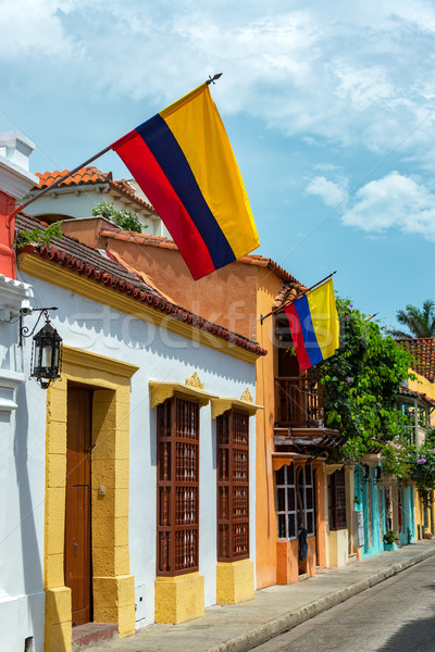 Colombian Flags in Cartagena Stock photo © jkraft5