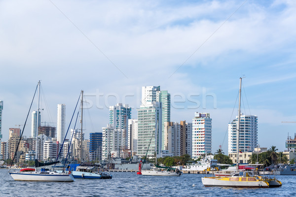 Cartagena and Yachts Stock photo © jkraft5