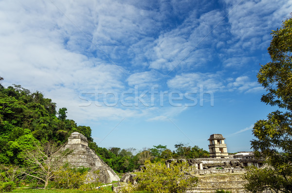 Palenque Temples Stock photo © jkraft5