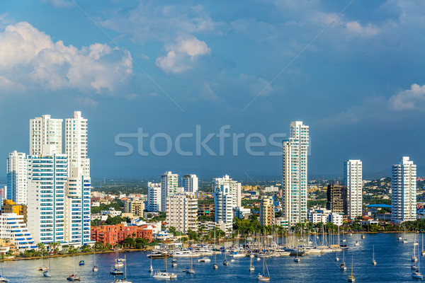 Yachts and Modern Cartagena Stock photo © jkraft5