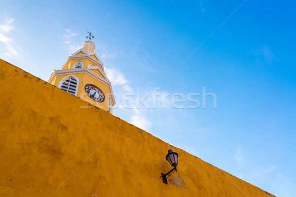 Cartagena Clock Gate Stock photo © jkraft5
