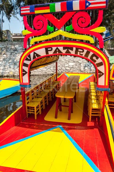 Színek gyönyörű színes csónak csatorna Mexikóváros Stock fotó © jkraft5