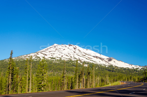 Highway Passing by Mountain Stock photo © jkraft5