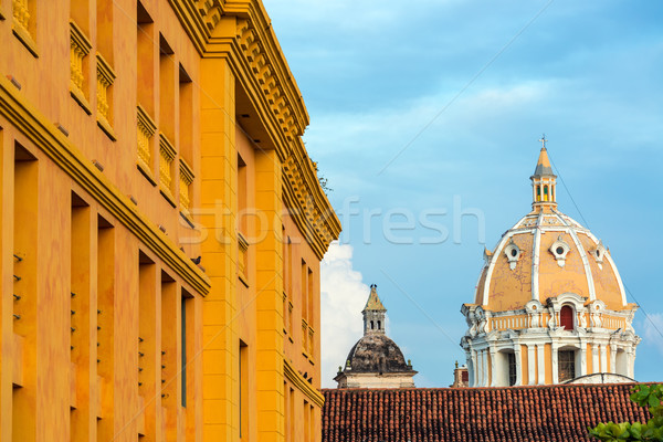 Cartagena Church Dome Stock photo © jkraft5