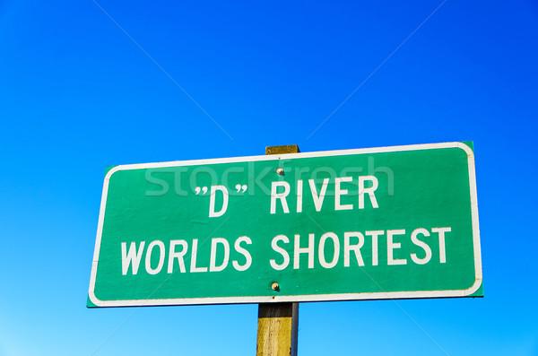 Sign for World's Shortest River Stock photo © jkraft5