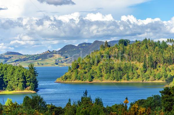 Lake and Lush Green Hills Stock photo © jkraft5