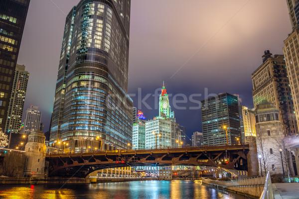シカゴ 川 高層ビル 表示 タウン 旅行 ストックフォト © jkraft5