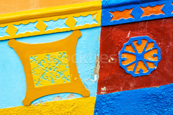 Colorful Building Detail Stock photo © jkraft5