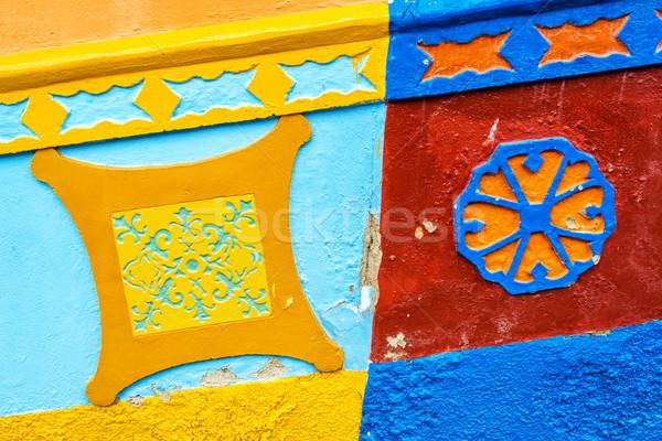 Kolorowy budynku szczegół szczegóły kolonialny domów Zdjęcia stock © jkraft5