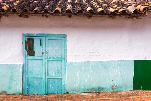 Sömürge Bina beyaz mimari kapı Stok fotoğraf © jkraft5