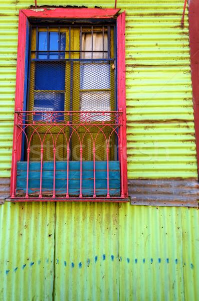 Kolorowy okno ściany la sąsiedztwo Buenos Aires Zdjęcia stock © jkraft5