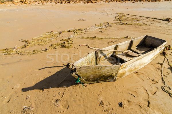 Old Wooden Canoe Stock photo © jkraft5