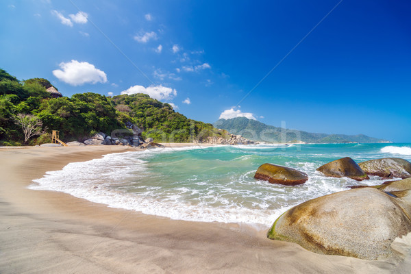 Beach in Tayrona National Park Stock photo © jkraft5