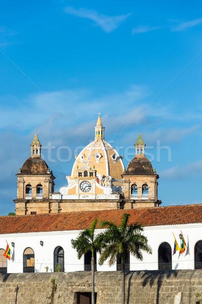 Kolonialny architektury kościoła historyczny centrum niebo Zdjęcia stock © jkraft5