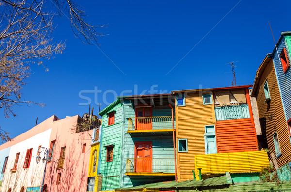Fényes színek Buenos Aires festett épületek LA Stock fotó © jkraft5