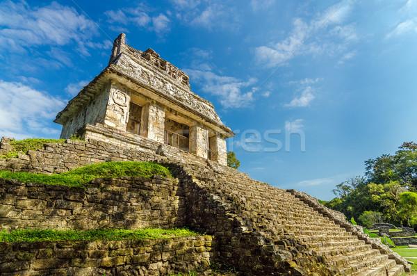 Tempio cielo blu antica città bella sole Foto d'archivio © jkraft5