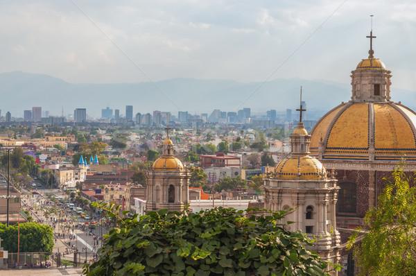 старые базилика Мехико Skyline за Церкви Сток-фото © jkraft5