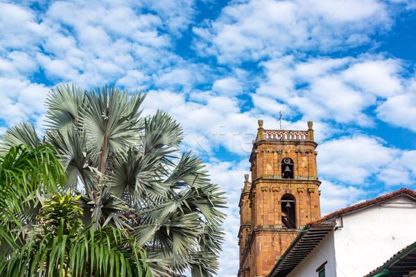 大聖堂 木 表示 コロンビア 興味深い ストックフォト © jkraft5