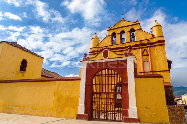 Yellow and Red Church Stock photo © jkraft5