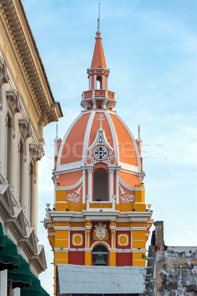 Cartagena Cathedral Closeup Stock photo © jkraft5