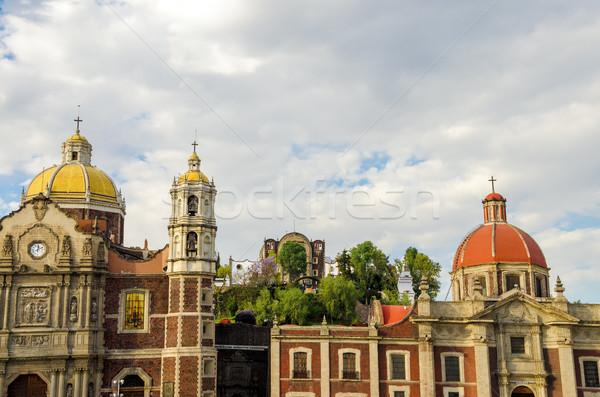 Foto d'archivio: Vecchio · basilica · signora · Città · del · Messico · chiesa · vacanze
