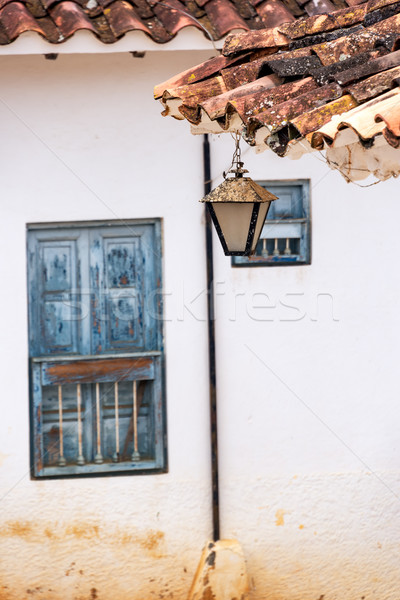 Streetlight Hanging in Barichara Stock photo © jkraft5